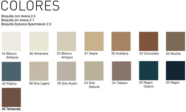 Boquilla para piso colores for Marmol color arena